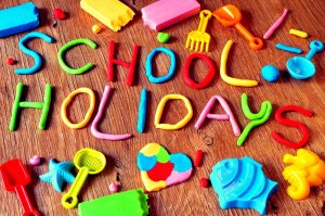 School holidays putty